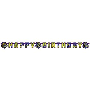 NINJA TURTLES - Happy Birtday banner - 1,20 m x 1,80 m
